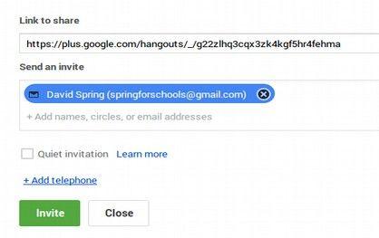 2 Start a Google Hangout Video Conference