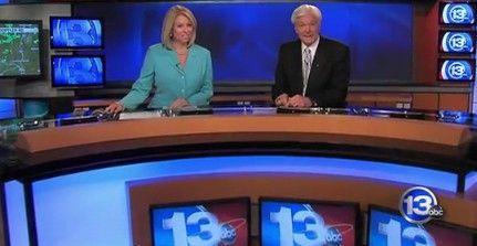 Green Screen Broadcasting Studio News Background